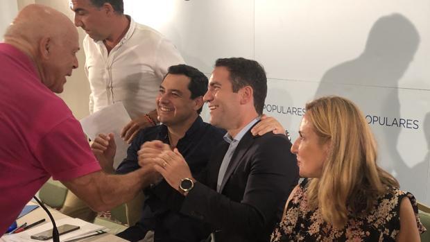 García Egea asistió con Juanma Moreno a una entrega de diplomas a apoderados del partido