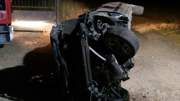 Estado en el que quedó el coche tras el accidente de tráfico