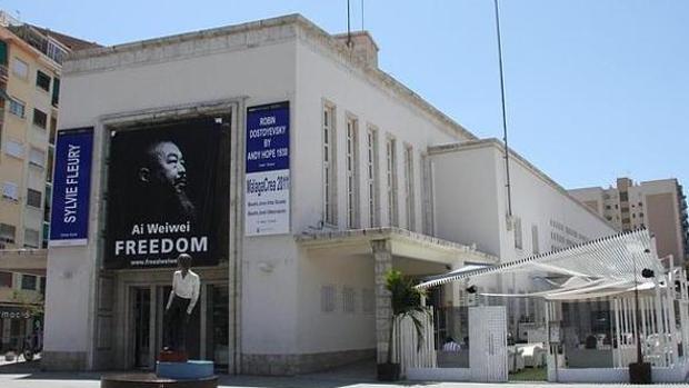 El CAC de Málaga durante la exposición de Ai Weiwei
