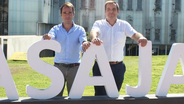 El presidente y el secretario de Asaja-Cádiz, Pedro Gallardo y Luis Ramírez, respectivamente