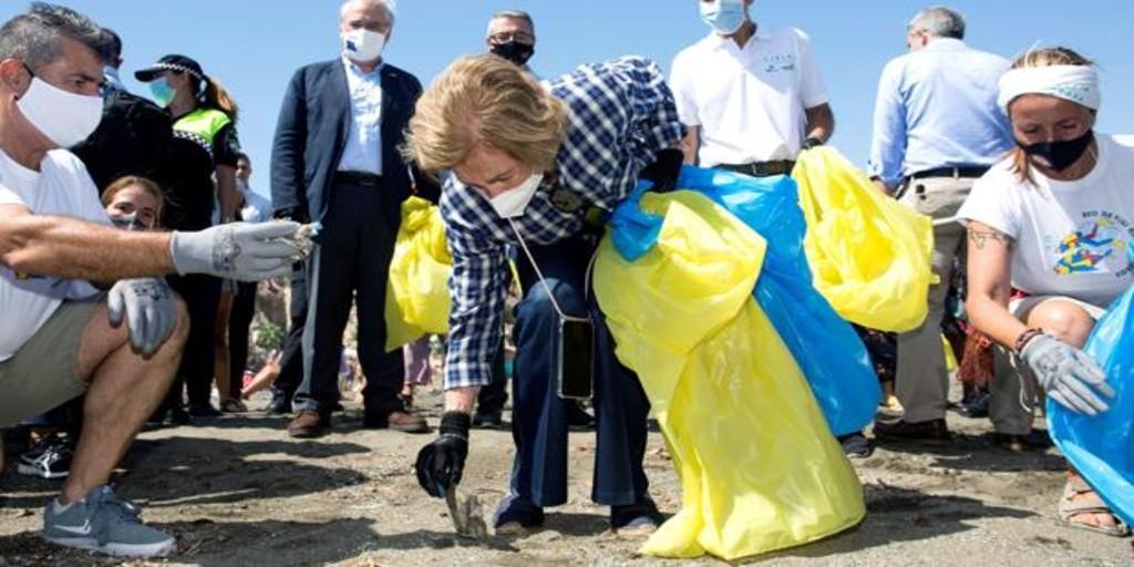 La Reina Sofía haciendo cosas Reina-sofia-basura-kgmE--1024x512@abc