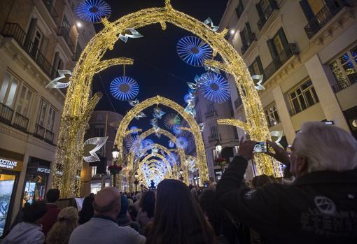 Alumbrado navideño en Málaga en 2019