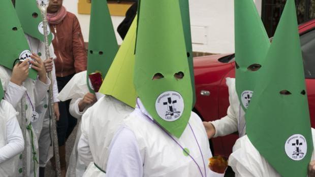 Imagen de una procesión infantil en un colegio público de Alcalá de Guadaíra