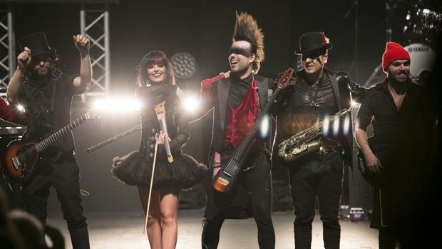 Los protagonistas de «Music has no limits», anoche en el Teatro de la Maestranza
