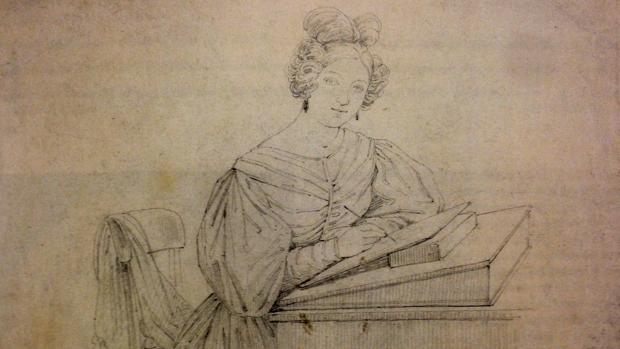 «Autorretrato en la mesa de dibujo», de Rosario Weiss