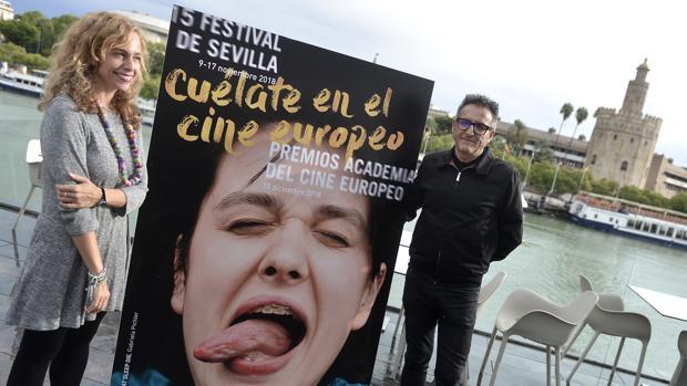 Isabel Ojeda y José Luis Cienfuegos, en la presentación de la XV edición del Festival de Cine Europeo de Sevilla