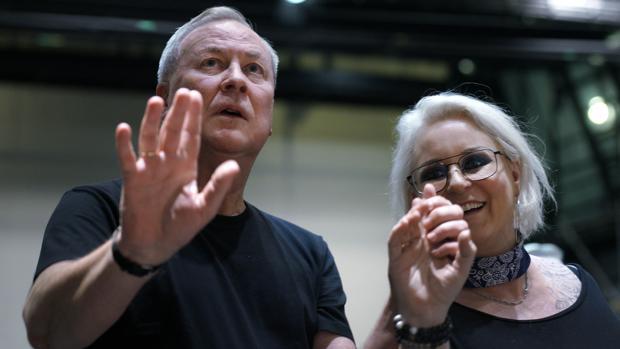 El director de escena Bob Wilson y la soprano Irene Theorin