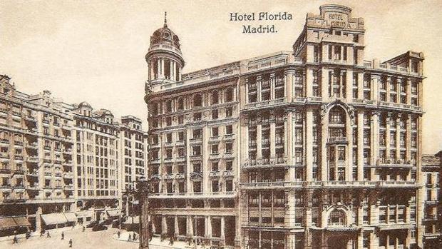 Imagen de una postal del Hotel Florida, antes de la Guerra Civil