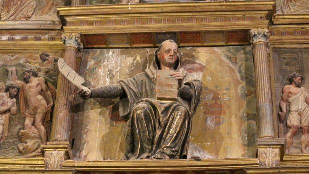 Detalle del retablo de San Román de Quintanilla de Riofresno