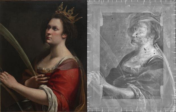 El retrato de Santa Catalina y el boceto inicial escondido