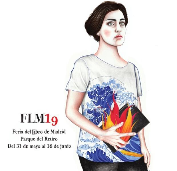 El cartel de la Feria del Libro de Madrid 2019, obra de Sara Morante