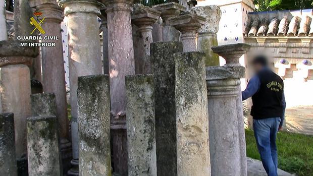 Restos arqueológicos recuperados por la Guardia Civil