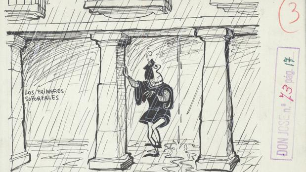 Ilustración de «Historia de Madrid», de Antonio Mingote
