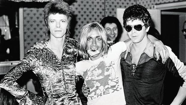 David Bowie, Iggy Pop y Lou Reed, en los años 70