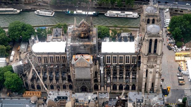 Estado actual de la catedral de Notre Dame, en París