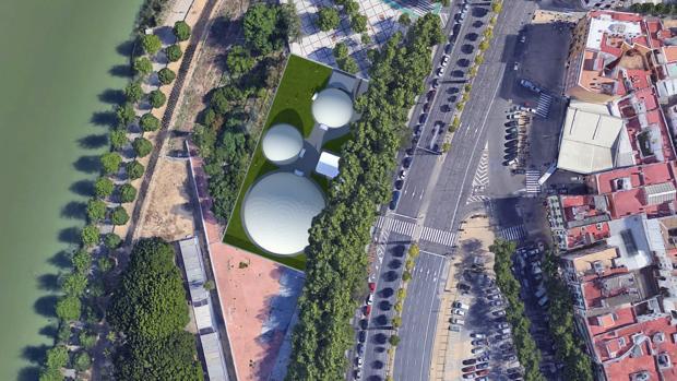 El Odeon Imperdible, que se alzará en tres cúpulas geodésicas, se instalará en una parcela en Torneo