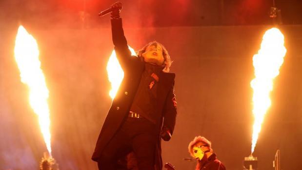 El grupo estadounidense de metal alternativo, Slipknot, durante su actuación este sábado en la tercera jornada del Download Festival 2019 que se celebra en los exteriores de la Caja Mágica de Madrid