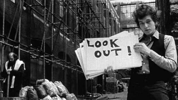 Captura del documental «Don't Look Back» de D. A. Pennebaker
