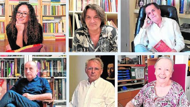 Christine Linares, David Peña «Dorantes», Juan Cobos Wilkins, Curro González, Juan Suárez y María Galiana
