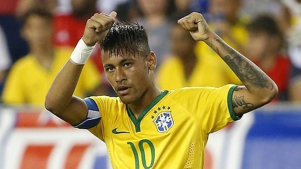 Neymar, en un partido con Brasil