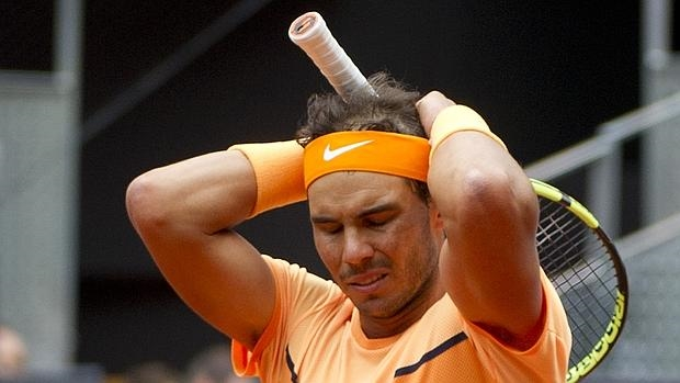 Rafa Nadal, en su partido contra Andy Murray