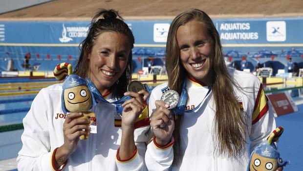 Vall y García, durante los pasados Juegos del Mediterráneo