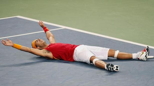 Rafael Nadal, tras ganar la medalla de oro en los Juegos de Pekín 2008