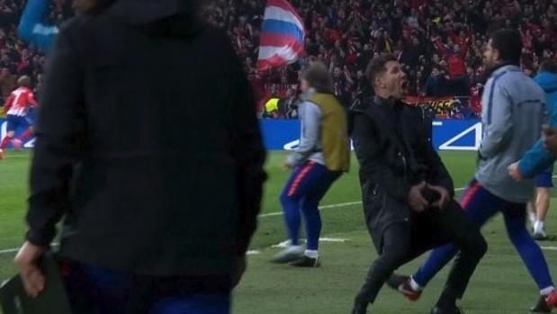 El gesto por el que Simeone ha sido multado por la UEFA