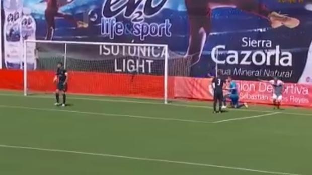 La jugada en la que fallaba Luca Zidane y se adelantaba la UD San Sebastián de los Reyes