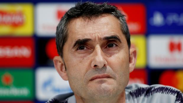 Valverde, durante la rueda de prensa previa al partido frente al Liverpool