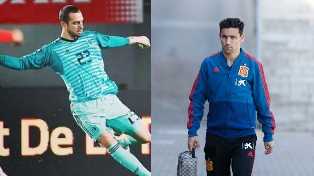 Pau López y Jesús Navas, con la selección española