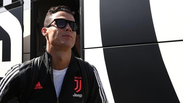 Cristiano Ronaldo, durante un desplazamiento de la Juventus