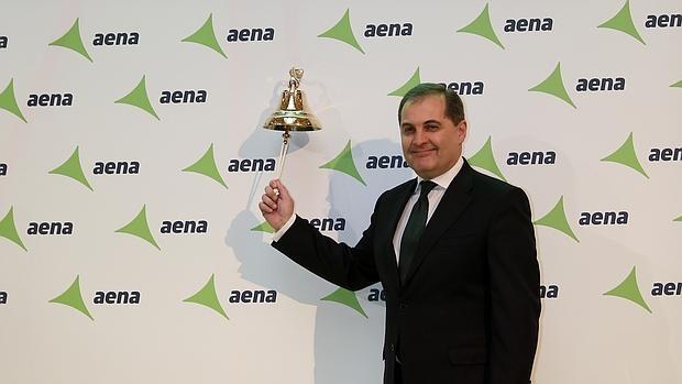 José Manuel Vargas, presidente de AENA, durante la salida a Bolsa del gestor aeroportuario
