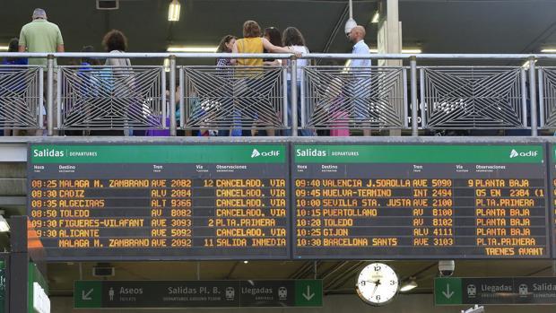 Trenes cancelados por la huelga de maquinistas