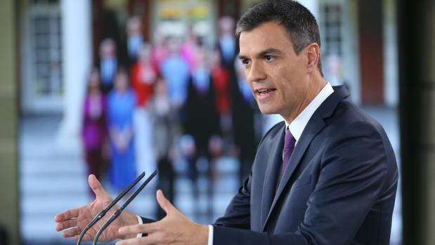 Pedro Sánchez, presidente del Gobierno, en el último Consejo de Ministros antes de las vacaciones