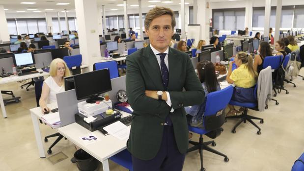 Ignacio Rufo, presidente y CEO de Servinform, en las oficinas centrales de Sevilla