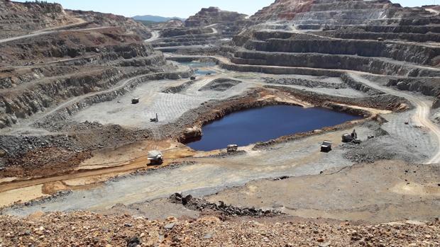 Mina de Riotinto, que explota la multinacional Atalaya Mining