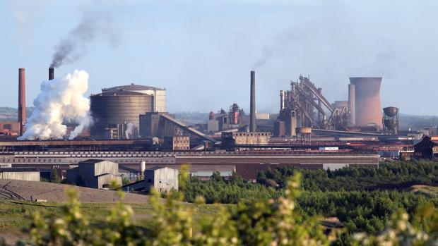 Una fábrica de British Steel en Scunthorpe, al norte de Inglaterra