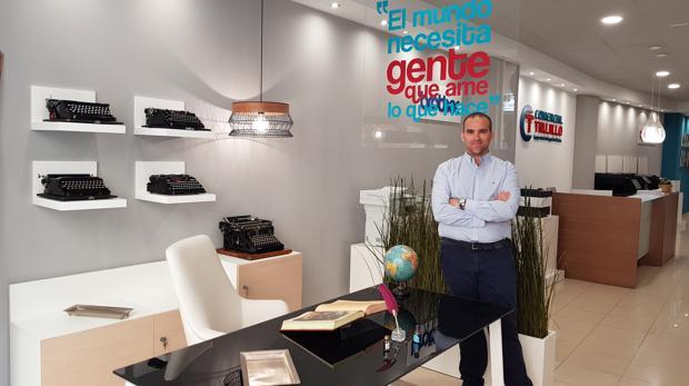 Juan Jesús Trujillo,en las instalaciones de la empresa en Antequera