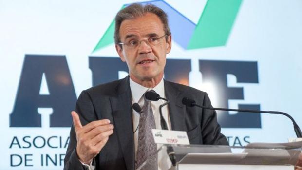 El presidente de Caixabank, Jordi Gual, en Santander