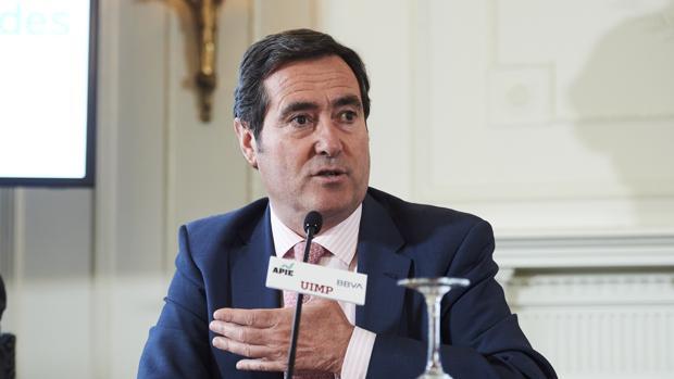 Antonio Garamendi, presidente de la patronal