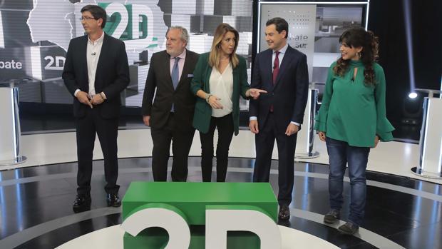 Los candidatos a la presidencia de la Junta en Canal Sur para el primer debate electoral