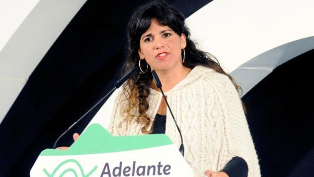 La candidata de Adelante Andalucía a la Presidencia de la Junta en las elecciones andaluzas, Teresa Rodríguez