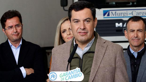 El líder y candidato del PP andaluz a la Presidencia de la Junta de Andalucía, Juanma Moreno