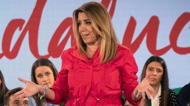Susana Díaz es la candidata del PSOE a la Presidencia de la Junta en las elecciones andaluzas de 2018