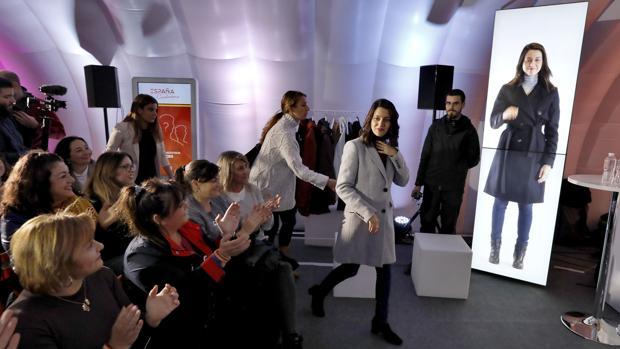 Inés Arrimadas en un acto celebrado este martes en Sevilla