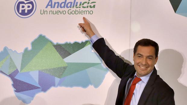 Juanma Moreno en el comité ejecutivo del PP-A tras las elecciones