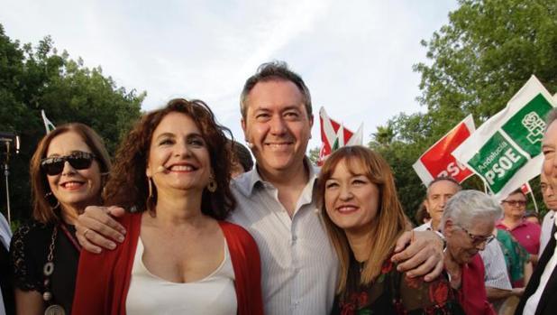 María Jesús Montero, Juan Espadas y Verónica Pérez