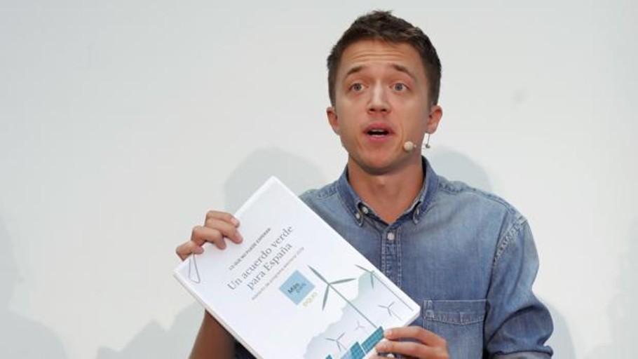 Errejón quiere una gran plataforma «verde» y se lanza a por el voto ecologista