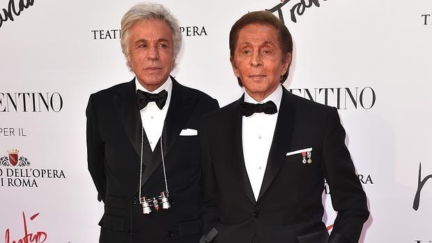 Valentino Garavani y Giancarlo Giammetti en La Traviata
